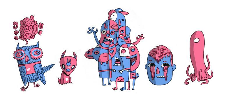 Some characters by MumblingIdiot