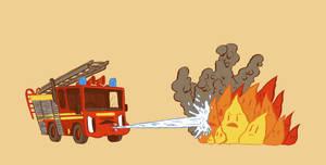 Fire vs Engine by MumblingIdiot
