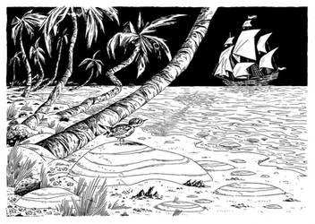 Tahitian Sandpiper by MumblingIdiot