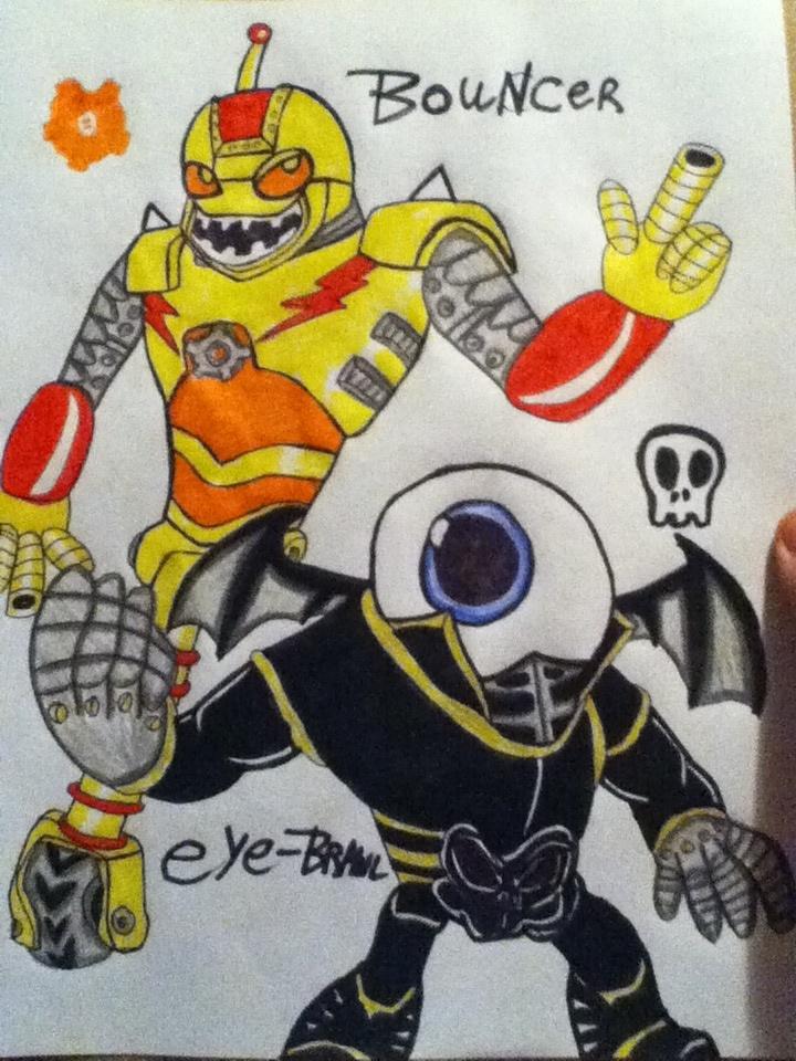 Skylanders giants bouncer and eye brawl 8d by 932 2063 on for Skylanders giants coloring pages eye brawl