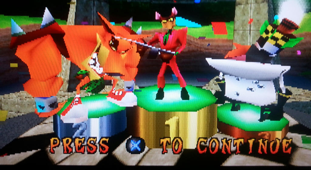 playing Crash bandicoot CTR raceing by 932-2063