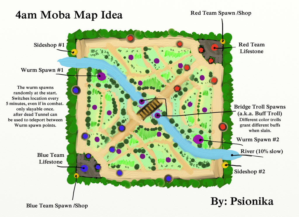 4am Moba Map Idea. by psionika on DeviantArt