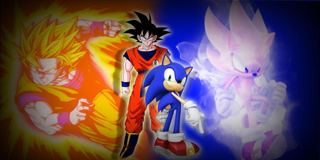 Goku And Sonic Wallpaper By Saiyanrage By Saiyanragehd On Deviantart