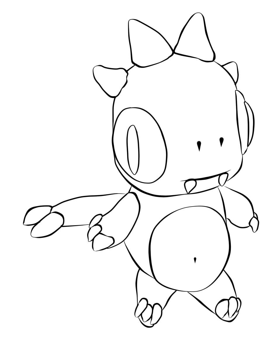 mini dragon line art by skate7495
