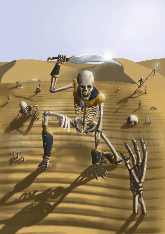 Unseen Lerker - Tomb Kings by Brakkenimation
