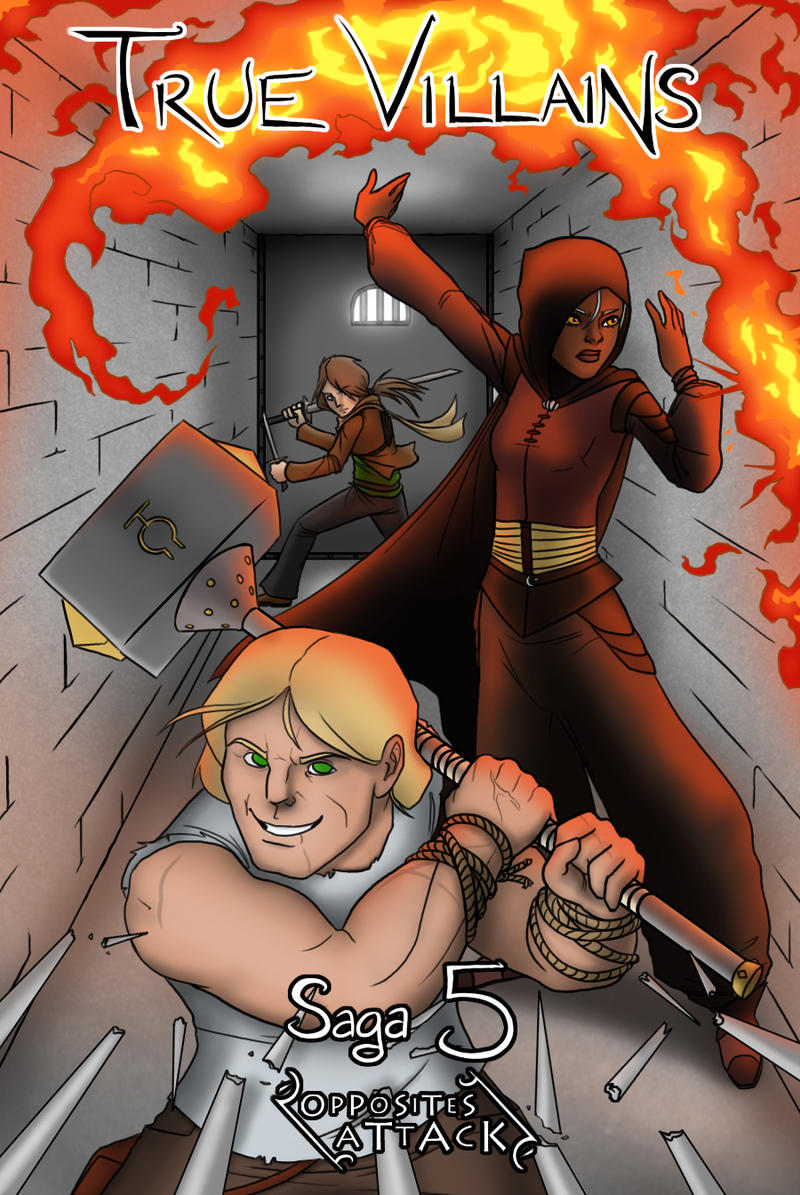 True Villains Saga 5 Cover by Brakkenimation