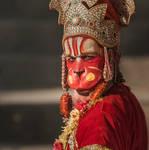 Holy monkey man at Pashupatinath temple