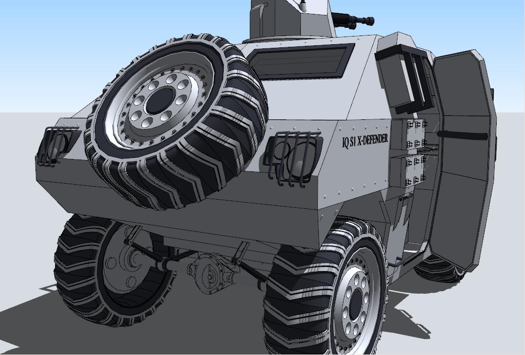 Defender War Car Back Side By IrvanQadri On DeviantArt