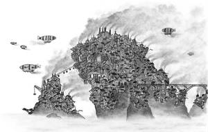 [ SteamPunk ] Coal Clouds by KeplerDream