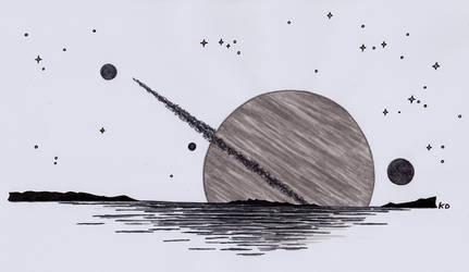 [Inktober 2018] (2nd Day) Alien Lake