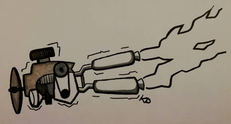 [Inktober 2018] ( 7th Day) Exhaust Pipes