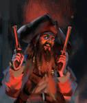 Blackbeard by JosephQiuArt