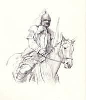 Horse archer by JosephQiuArt