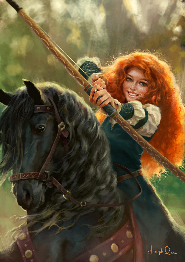 Merida by JosephQiuArt