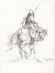 Horse warrior sketch
