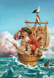 Captain Santa by JosephQiuArt
