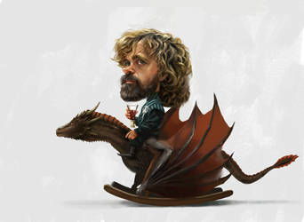 Tyrion and his rocking dragon by JosephQiuArt