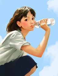 Refreshing by JosephQiuArt