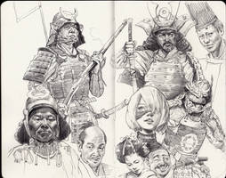 Samurai sketches