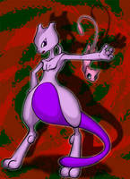 Mew and Mewtwo by seiya712