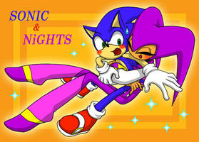 Sonic and NiGHTS ArtTrade by seiya712