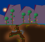 The First Night in Terraria