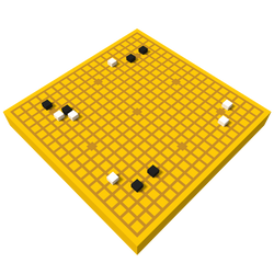 Go board and stones / voxel model by MikePestr