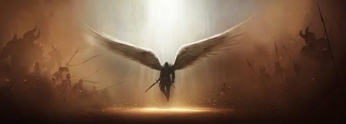 Diablo 3 Tyrael Fan Art WIP by tobylewin