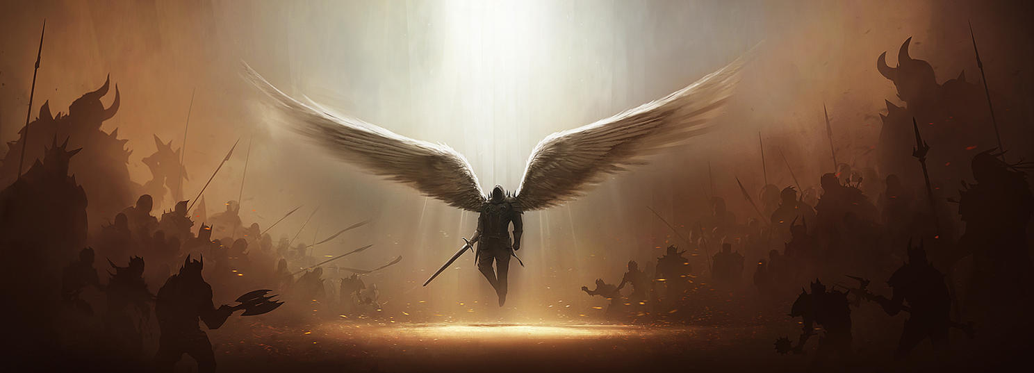 Diablo 3 Tyrael Fan Art 2 by tobylewin