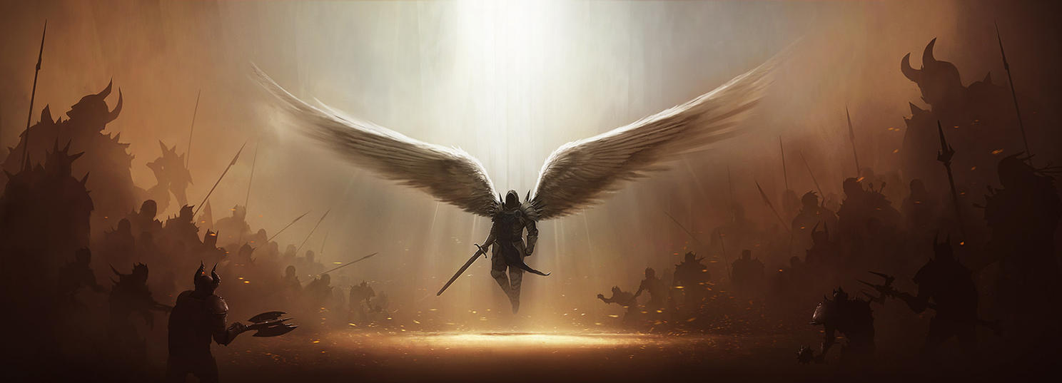 Diablo 3 Tyrael Fan Art WIP 3 by tobylewin