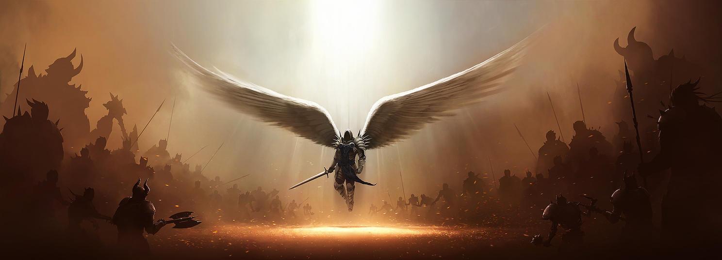 Blizzcon 2011: Diablo 3 Tyrael by tobylewin