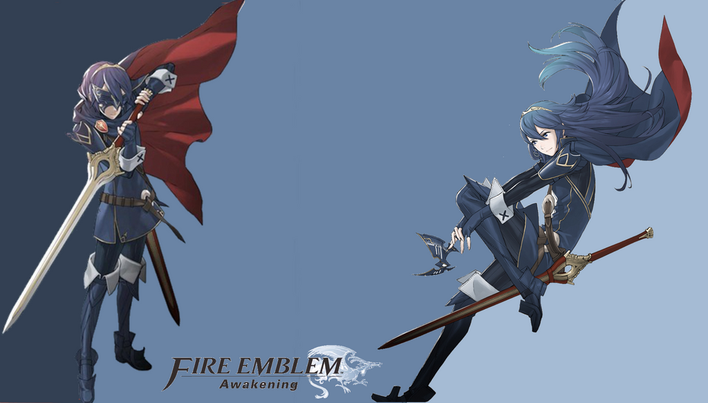 lucina and marth wallpaper by 618delta on deviantart