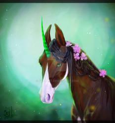 Unicorn by JylliArt