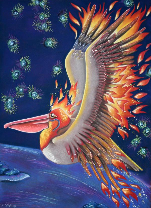 Pelican as Firebird by Ravenari