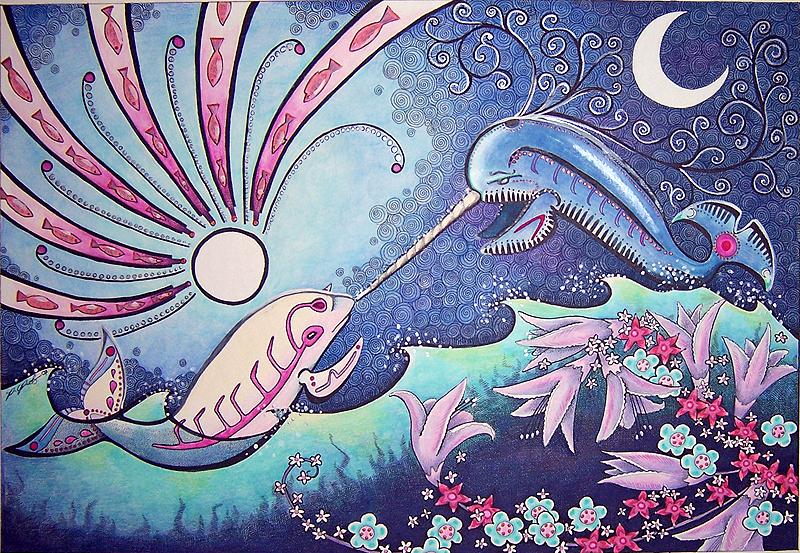 Beluga Goddess and Narwhal God