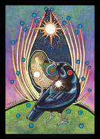 Satin Bowerbird - Totem by Ravenari