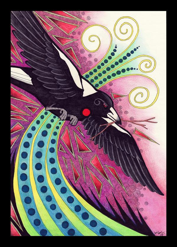 Australian Magpie - Totem by Ravenari