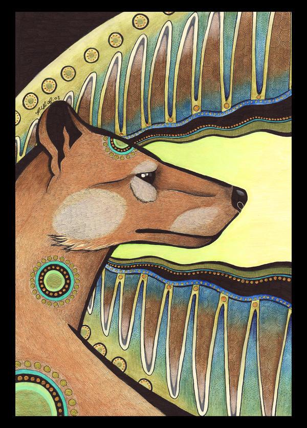 Thylacine as Totem by Ravenari