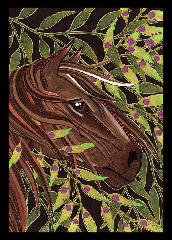 Wild Horse as Totem by Ravenari