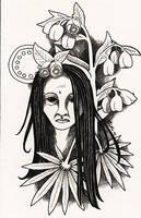 Hellebore plant spirit by Ravenari