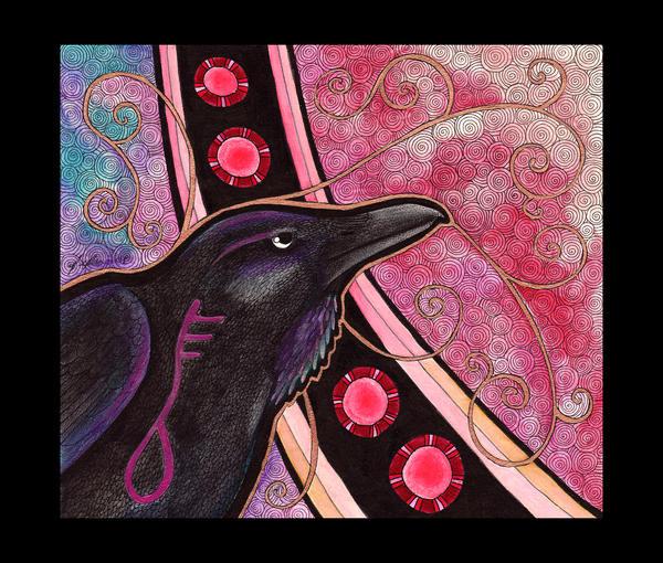 Azhures Raven as Totem by Ravenari