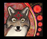 Red Gray Wolf as Totem
