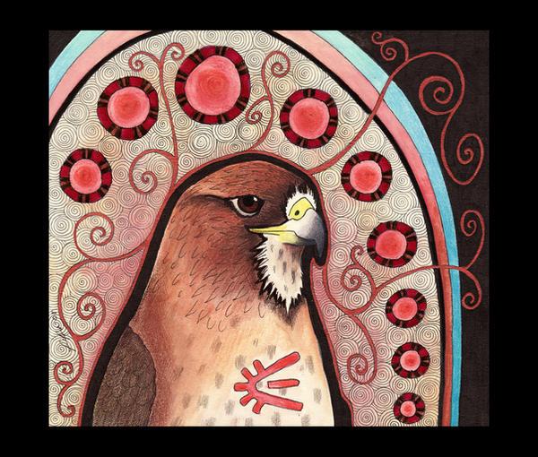 Red Tailed Hawk As Totem By Ravenari On Deviantart
