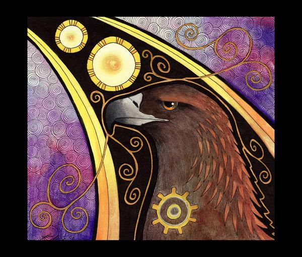 Golden Eagle as Totem by Ravenari