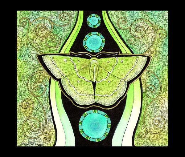 Emerald Moth as Totem by Ravenari