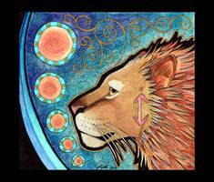 Asiatic Lion as Totem by Ravenari