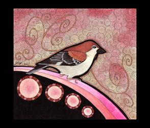 Cinnamon Sparrow as Totem by Ravenari