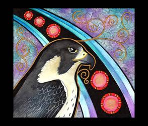 Peregrine Falcon as Totem by Ravenari