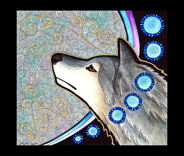 Gray Wolf as Totem - 03 by Ravenari