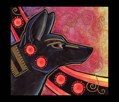 Anubis - Jackal as Totem by Ravenari